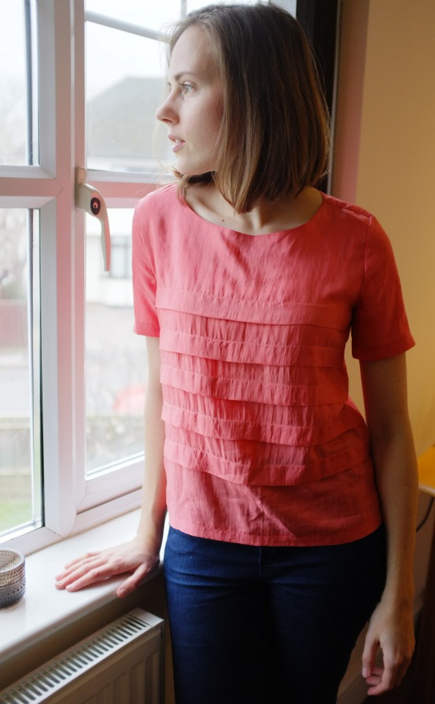 Pleated silk top 8